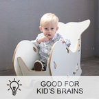 Whale Chair Gray Contemporary Kids Chairs By Sprout