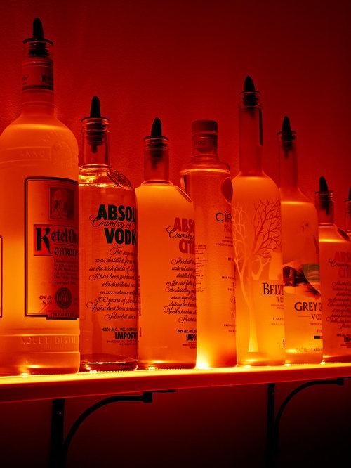 Wall Mounted Liquor Shelves