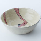 Gemma Orkin Bird Serving Bowl, Flamingo