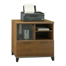 ... Achieve Lateral File and Printer Stand in Warm Oak - Filing Cabinets