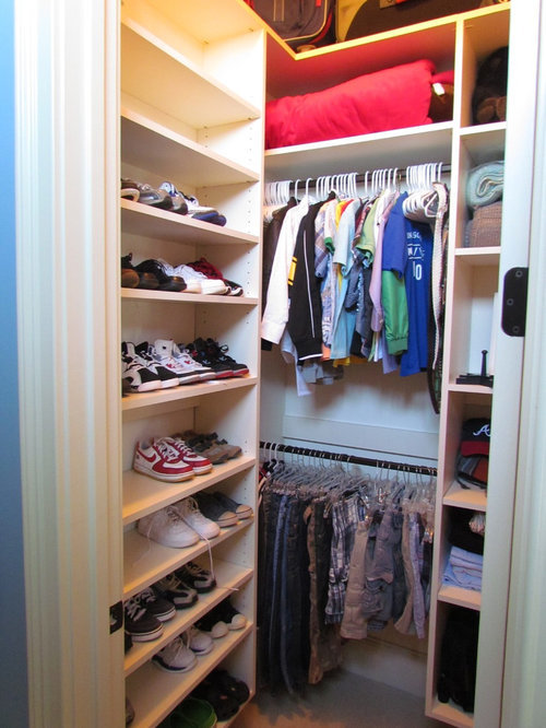Small Walk-In Closet Home Design Ideas, Pictures, Remodel and Decor