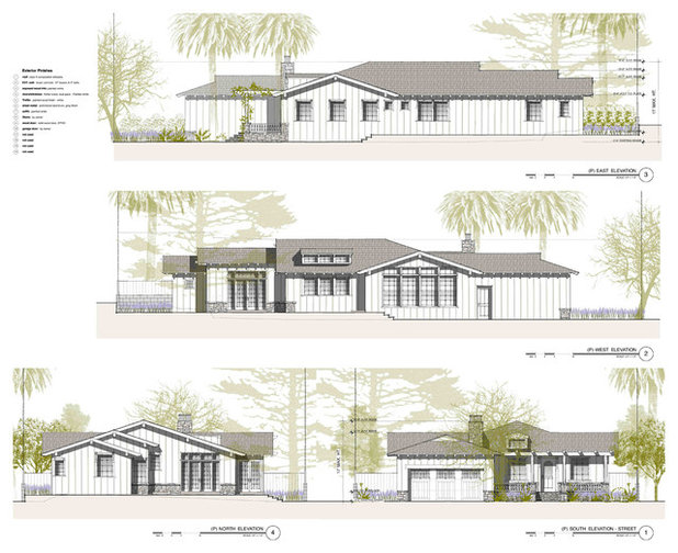 Elevation for Exterior house drawing