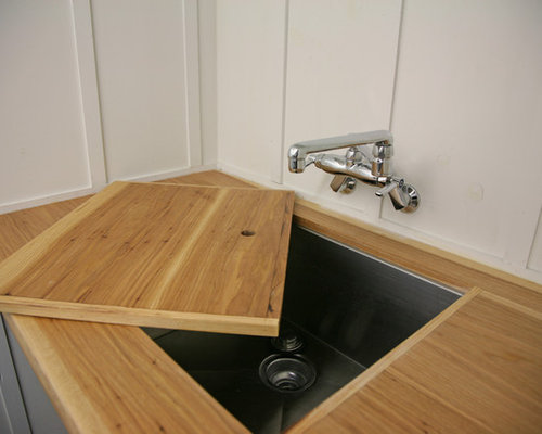Laundry Countertop Materials : Utility Room Design Ideas, Remodels & Photos with Wood Countertops