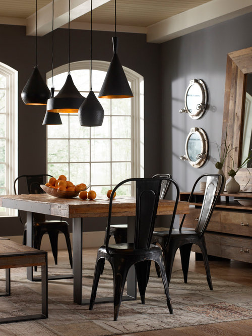 Industrial dining room design ideas remodels photos for Dining room ideas industrial