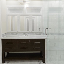Berkeley Brown Shingle Master Bath with Modern Touches