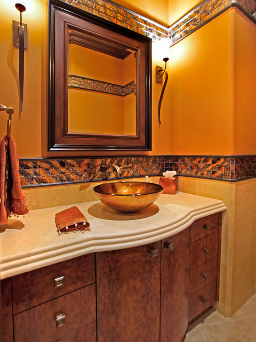 Orange Las Vegas Bathroom Design Ideas Renovations Photos
