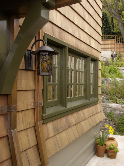 Rustic Exterior by Camber Construction