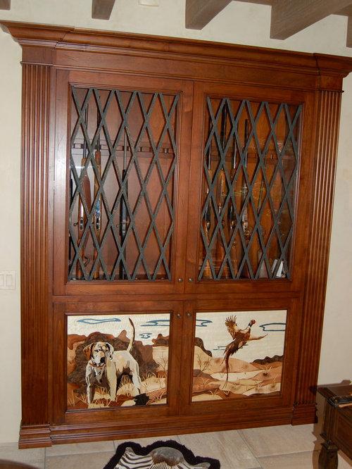 Custom Gun Cabinet Home Design Ideas, Pictures, Remodel and Decor