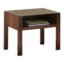 """... end table stands 22"""" high with spacious 24"""" x 22"""" surface and open"""