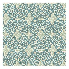Aqua Moroccan Mosaic Cotton Fabric Teal Amp Aqua Block