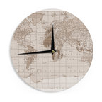 Simple Wood Wall Clock Contemporary Clocks By West Elm