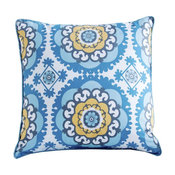 Medallion Peacock Accent Pillow