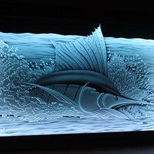 Illuminated Art Glass by Krystal Glass Company
