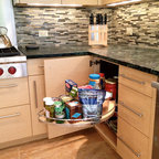 LeMans Blind Corner Cabinet - Transitional - Pantry And ...