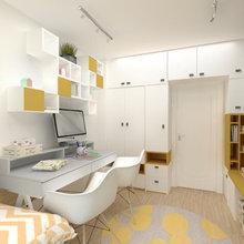 Yellow-Grey Kids Room