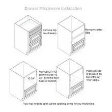 Drawer microwave installation