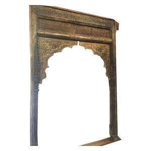 Mogul Interior - Antique Indian Hand Carved Arch archway - The arch archway comes from India and are a 18/19 century vintage pieces.