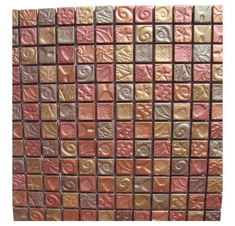mosaic backsplash tile art glass mosaic tiles with a antique copper