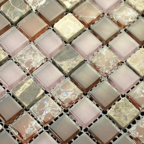 Crackle Glass Mosaic Tiles