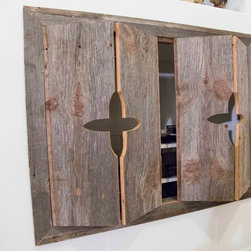 Cabinets - Reclaimed Pine Bi-Fold Cabinet Doors - Made with reclaimed ...