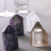 Roost Crystal Salt and Pepper Shakers, Amethyst