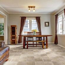 Luxury vinyl tile (LVT) floors in spring home décor