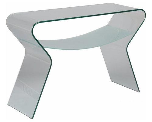 Tables basses d 39 appoint et chevets - Console verre trempe ...