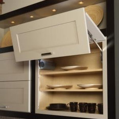 Vertical Hinge Wall Cabinets - Kitchen Cabinetry