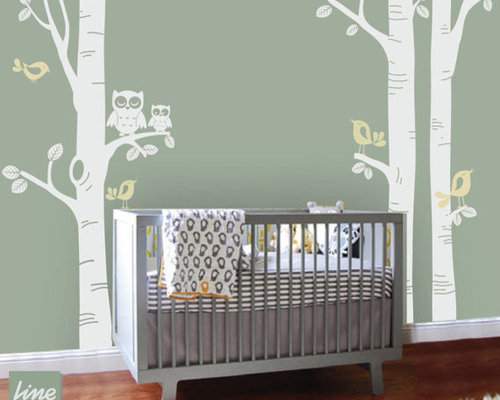Kids room decal home design ideas pictures remodel and decor for Beautiful birch tree wall mural
