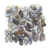 """12""""x12"""" Sliced Mixed Pebble Stone Tile Sheet"""