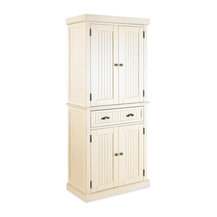 Home Styles - Nantucket Pantry White Distressed Finish - Nantucket Pantry is constructed of ...