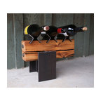 Reclaimed Wood Wine Stand - Eclectic - Wine Racks - other metro - by Reclaimed Things, LLC