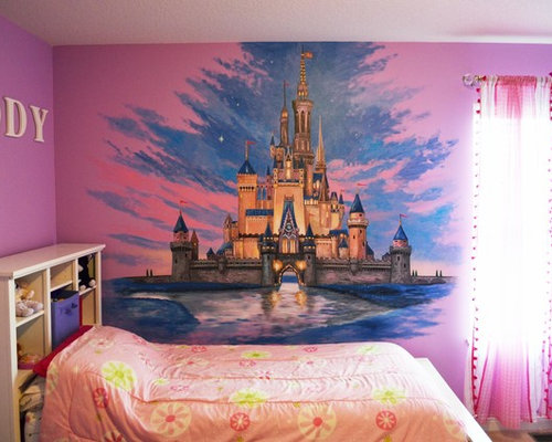 Disney castle mural for Disney castle mural