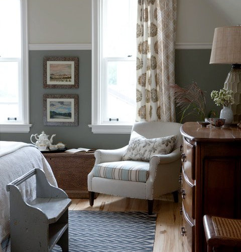 Two Tone Walls Home Design Ideas, Pictures, Remodel And Decor