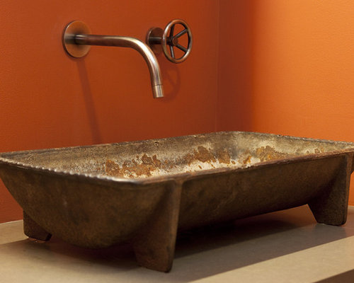 Industrial Trough Sink : Industrial Trough Prep Sink Home Design, Photos & Decor Ideas