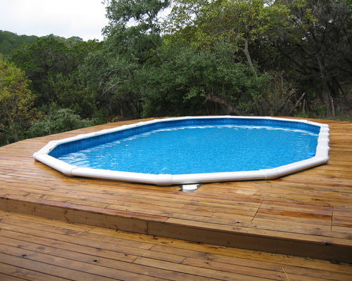 Oval above ground pool with deck for Above ground oval pool deck plans