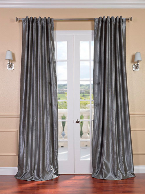 solid vintage textured faux dupioni silk curtains
