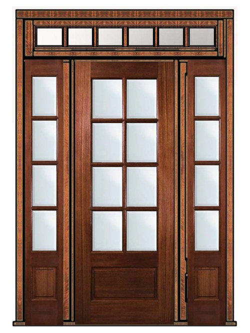 8 lite french doors for Double hung french patio doors