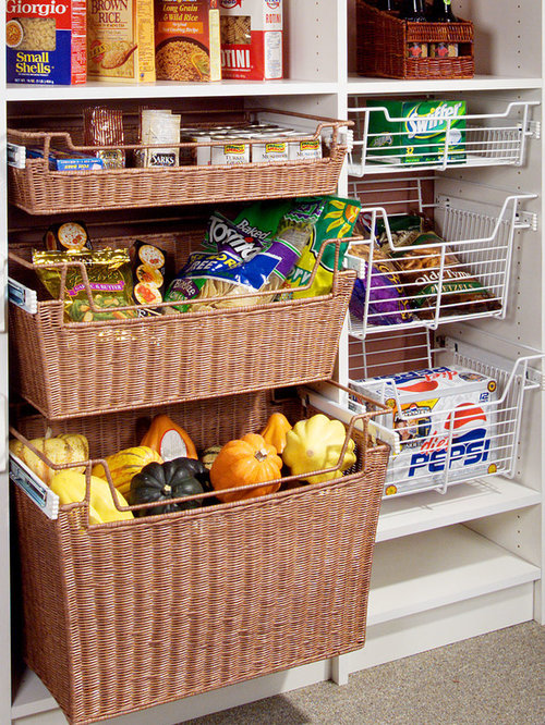 Wicker Pull Out Drawers Kitchen Design Ideas, Remodels & Photos