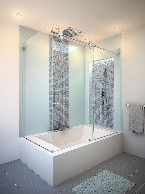 Salles de bains et wc avec une baignoire d 39 angle et - Salle de bain avec baignoire d angle ...
