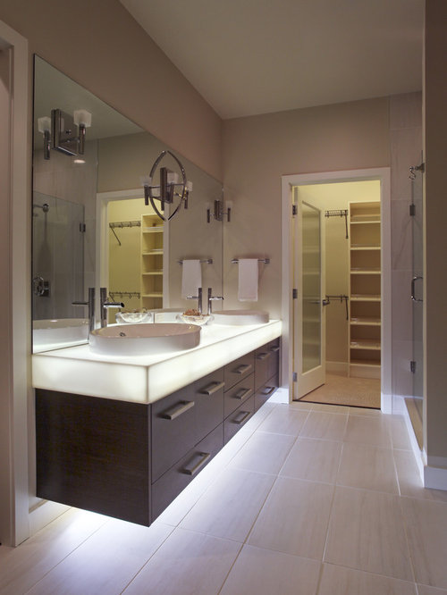 Calgary Bathroom Design Ideas Renovations Photos With Brown Cabinets