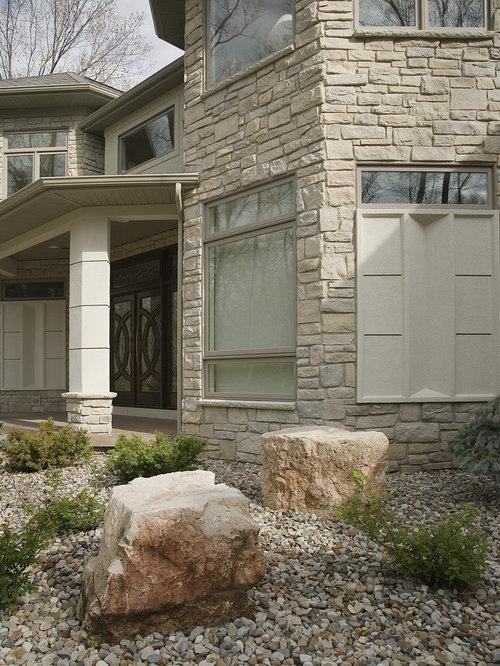 Chicago Limestone Exterior Design Ideas Pictures Remodel Decor