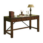 Home Styles Cabin Creek Executive Desk In Chestnut Finish