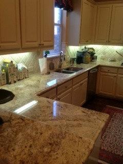 Kitchen Remodel - Pillowed Backsplash & Granite