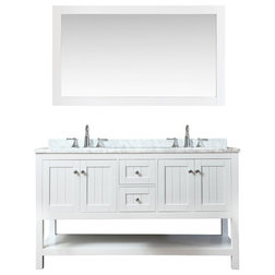 ari kitchen and bath emily 60 cottage style bathroom vanity white