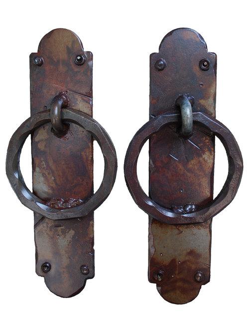 da Vinci Details - Palermo Iron Garage Door Handles, Rust Finish ...