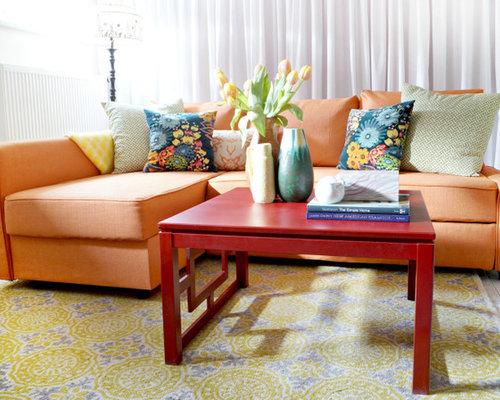 friheten snug fit slipcovers in kino orange fabrics. Black Bedroom Furniture Sets. Home Design Ideas