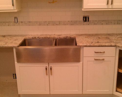 Kitchen Backsplash White 3x6 Subway Tile Amp White