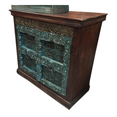 Mogul Interior - Vintage sideboard Traditional Hand Carved Wooden Storage Cabinate - Media Cabinets