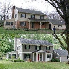 Half Brick House Designs : Help! Would love ideas for 1960s colonial, lets brainstorm :)
